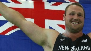 Good Sport. Britain didn't win any golds in Portland, so Tom Walsh, waved their flag around anyway.