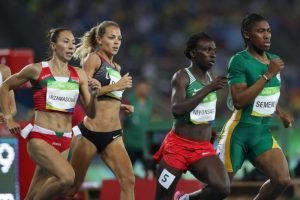 Caster Semenya Leads the girls in Rio.