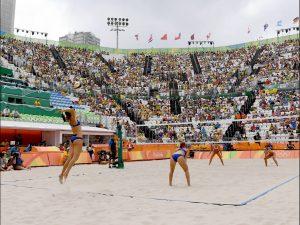 A Samba Party on the sand.
