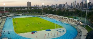 Venue for the Nitro Athletics Finale, Lakeside Stadium in Melbourne. All eyes will be assessing if the new competition can attract a new generation of fans to track and field.
